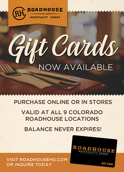 Roadhouse Hospitality Group | Gift Cards
